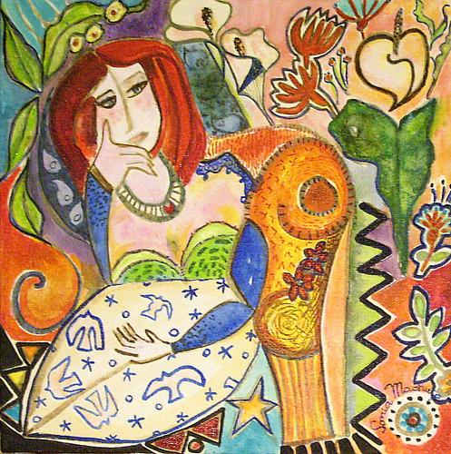 A Cara do Rio - Na visão de 100 artistas > Centro Cultural Correios até 8-mar-2009 >  Pintar e ouvir música clássica durante o Carnaval: isso também é a cara do Rio.