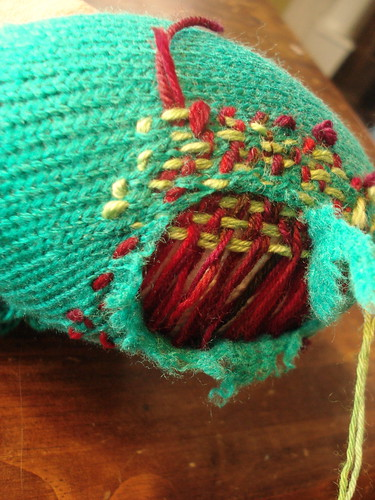 darning is weaving