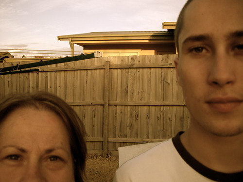 Kieran and me: Back yard