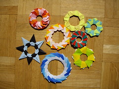 collection of rings (Dasssa) Tags: star origami ring modular tomokofuse