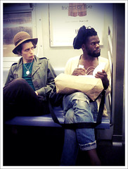 """Two (French) Hipsters"" (Sion Fullana) Tags: newyork portraits subway streetphotography ltrain friendorfoe allrightsreserved newyorkers iphone vintagelooking gayguys interestingpeople frenchguys urbanshots guywithahat urbannewyork subwayscenes iphonephotography iphoneshots iphoneography iphoneographer sionfullana serieswhatweseeonatrain greatiphoneshots twofrenchhipsters stylishgayguys throughthelensofaniphone mobilephotogroup"