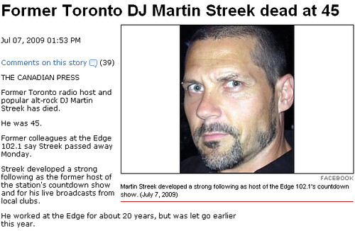 Local Newspapers Drop Ball With Martin Streek Death Coverage