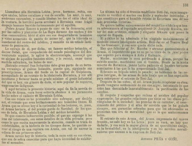 Revista La Lidia (3-6-1894) Pagina 131