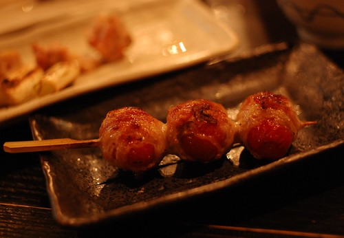 Tomato with pork, yakitori
