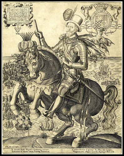 Charles Howard of Effingham, Earl of Nottingham, mounted on a prancing horse (about 1600)
