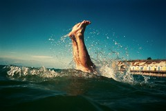 Feet. (DJ Bass) Tags: ocean blue sea film feet swimming wow kent kodak diving thes