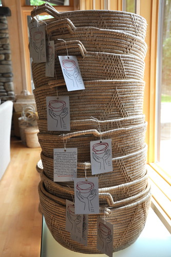 Baskets with hang tags