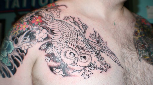 owl tattoos. New ink - Swooping Owl Tattoo