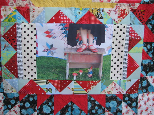 mini quilt monday and bench monday collide