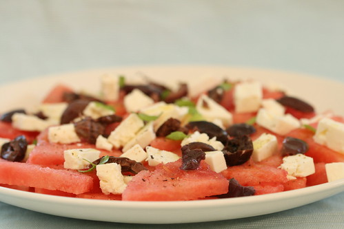 Watermelon and feta salad / Arbuusi-fetasalat