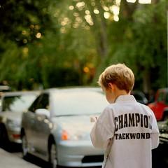 unfilled objectives (Maureen F.) Tags: boy summer texture wednesday bokeh taekwondo squared afterschool hbw