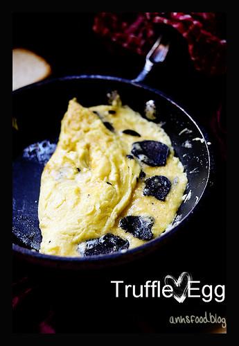 An Extravagant Breakfast - Truffle omelette