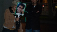 Candlelight vigil for Neda & other who died in Iran protests (Steve Rhodes) Tags: sf sanfrancisco california ca iran protest july vigil 2009 unplaza civiccenter candlelightvigil neda iranelection j30 july30th july30 july09 silentwave july2009 norcal4iran julythe30th