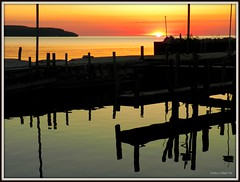 Let's Reflect (DMoutray - Denny Moutray Photography) Tags: sunset reflections distillery 2009 doorcounty platinumphoto platinumheartaward mirrorser saariysqualitypictures mtrtrophyshot flickrunitedaward geshgreenearthsafehealthy dmoutray