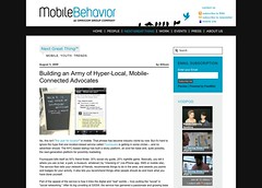 Building an Army of Hyper-Local, Mobile-Connected Advocates « MobileBehavior_1249599239966