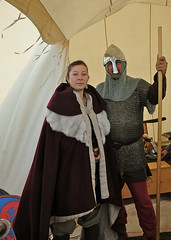 Viking greetings (anniedaisybaby) Tags: costumes friends history helmet tent manitoba jewellery archer vikings gimli chainmail interlake cloaks historicalcostume icelandicfestival vikingvillage historicalreenactors
