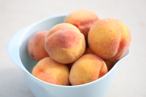 Bowl of Homegrown Peaches