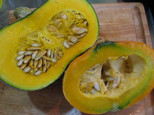 hokkaido blue and golden nugget squash from this years harvest