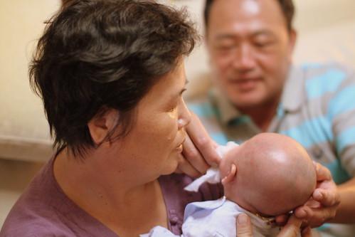 樂樂跟外公外婆