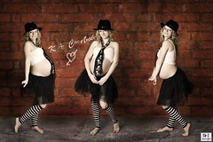 Wonna Triplets?!  Marry Triplets!!! (MissSmile) Tags: friends woman texture girl hat lady photoshop manipulated studio fun funny stripes joke bricks creative style pregnant maternity triplets iq blackhat 9months diamondheart misssmile flickrlovers