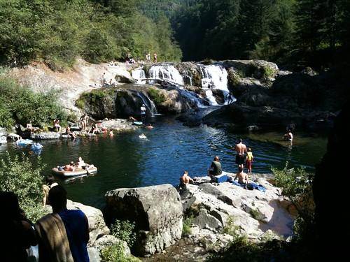 naked Waterfall swimming