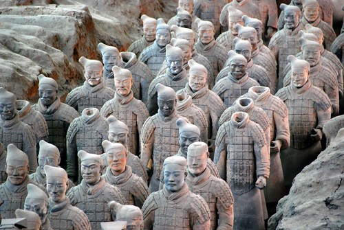 army of terra cotta soldiers, xian