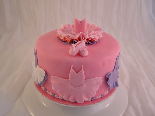 Ballet dance birthday cake