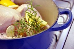 Kylling med hvidløg, citron, rosmarin og sort peber