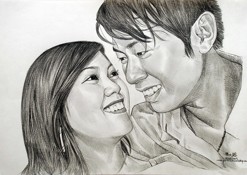 Couple portraits in pencil 300809