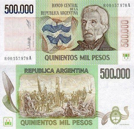 500 000 pesos Argentína 1980-83