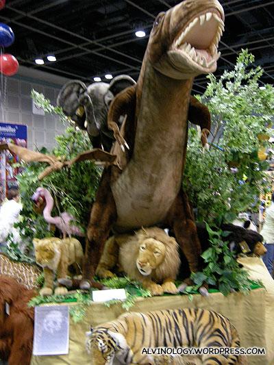 Safari and dinosaurs stuffed toys