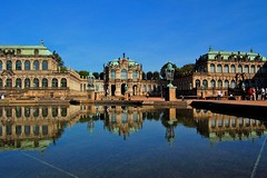 The Zwinger in Dresden, Germany (Tobi_2008) Tags: reflection building germany deutschland dresden zwinger searchthebest saxony palace sachsen bauwerk allemagne spiegelung soe germania supershot anawesomeshot diamondclassphotographer flickrdiamond theunforgettablepictures vanagram artofimages bestcapturesaoi