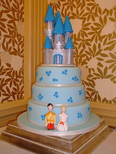 Cinderella Castle 3 tier wedding cake
