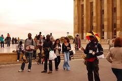 Vendedores ambulantes de Senegal en Plaza de la Humanidad
