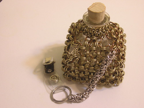 Wrapped chain mail bottle