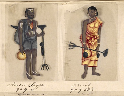024-Mendigo hindú y su mujer-Seventy two specimens of castes in India 1837