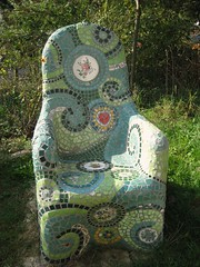 Mosaic chair by Waschbear