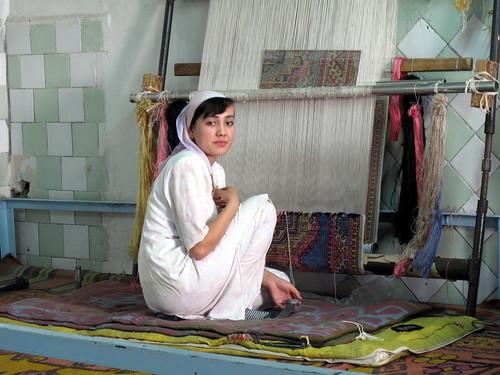 Silk Carpet Weavers
