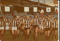 A photo i took at Collingwood training at Victoria Park in 1983. (gezza1967) Tags: collingwood 1983 fc magpies the