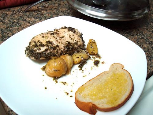 Poached Garlic Chicken