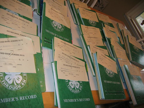 4-H Record Book Judging