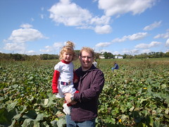Dad & Lilli In The Pumpkin Patch