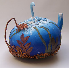 Polymer Clay Teapot (Maine Lights) Tags: mixed media clay teapot polymer