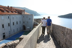 Dubrovnik From The Wall (trent_maynard) Tags: wall coast ancient couple croatia oldtown dubrovnik adriatic oldercouple citywall hrvatska ancie