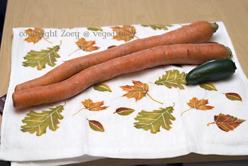 2 surprisingly large carrots