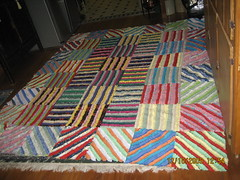 The ruffled rule breaker. an overview. (AUNTY NARTY) Tags: quilt stripes patchwork recent ruffled quilttop rawedge