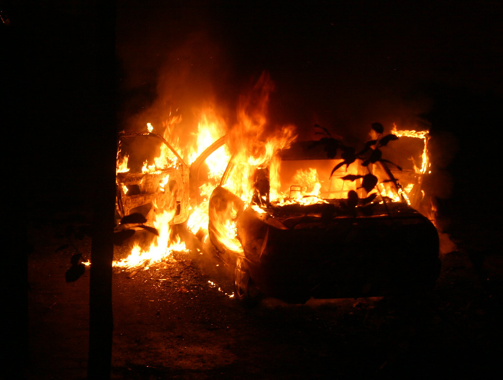 Another Burning Car