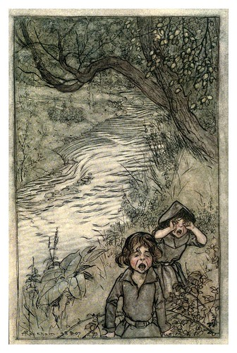 028-Los niños en el bosque o las tragedias de Norfolk-The Ingoldsby legends 1907-illustrations Rackham Arthur