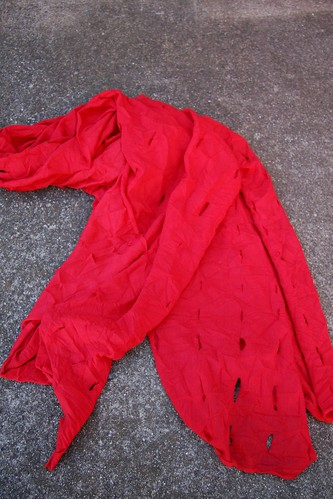 red slash scarf