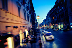 Roma Rush (Josh Liba) Tags: blue sunset italy blur streets rome roma cars love night speed golden evening moving nikon italia accident creative fast explore rush rushhour tones splittone tamron1750mmf28 d5000 joshliba
